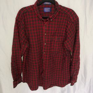 Pendleton Red and Black Flannel